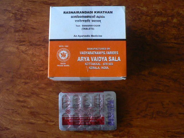 <b>RASNAIRANDADI KWATHAM</B><BR>AVS - 1 blister of 10 tablets